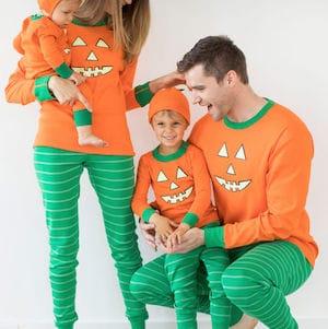 Family Matching Jack O Lantern Halloween Pajamas