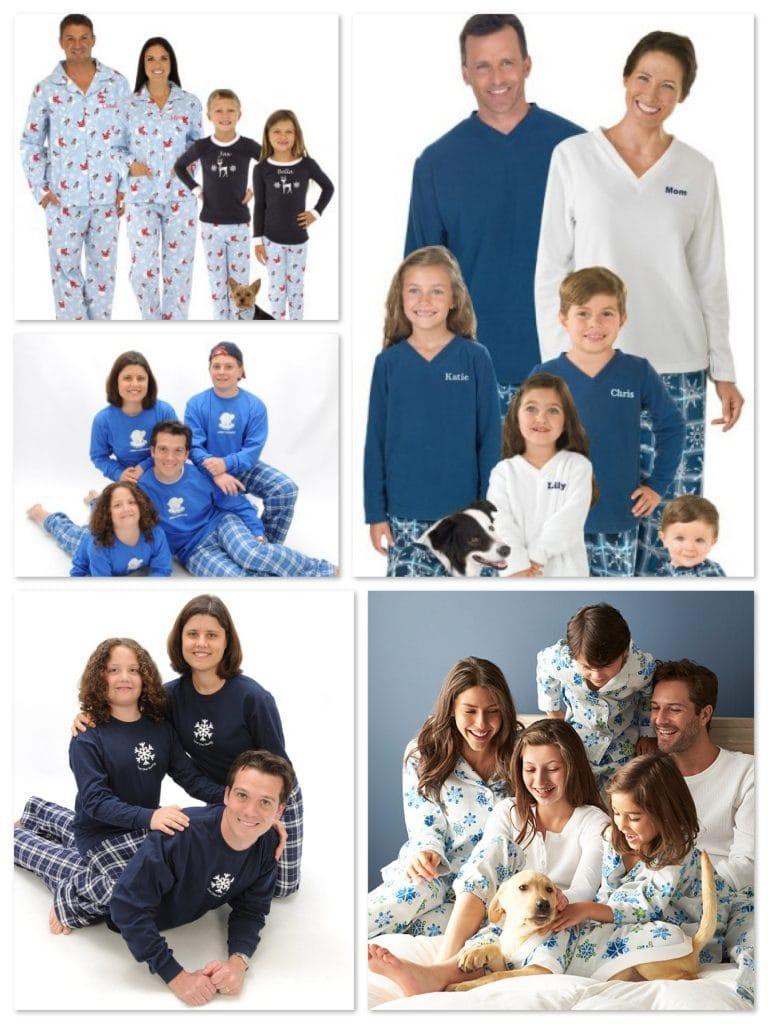 Family Matching Pajamas in Blue