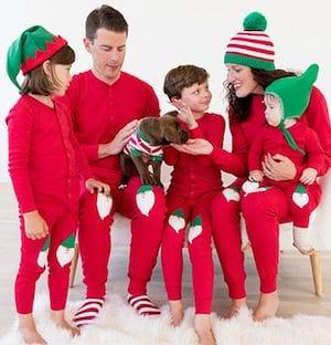Family Matching Santa Applique Union Suit