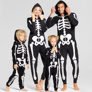 Family Matching Skeleton Hooded Halloween Pajamas