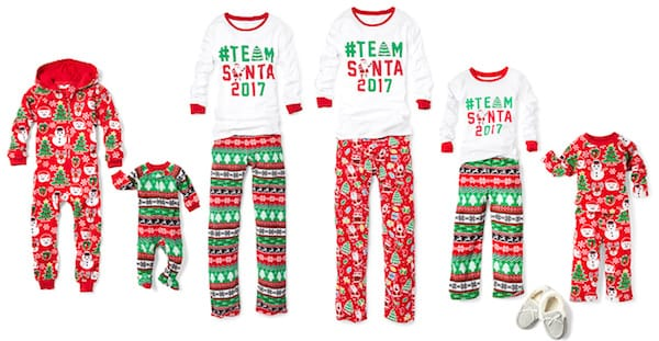Family Matching Team Santa Christmas Pajamas