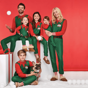Family Matching Elves Holiday Pajamas