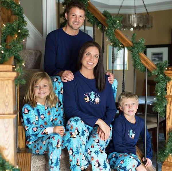 Family Matching Winter Penguin Fleece Holiday Pajamas