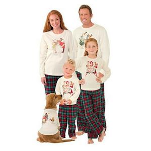Family Holiday Matching Pajamas Norman Rockwell