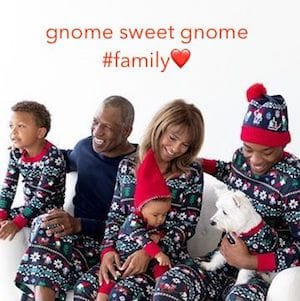 Family Love Gnome Sweet Gnome Matching Holiday Pajamas