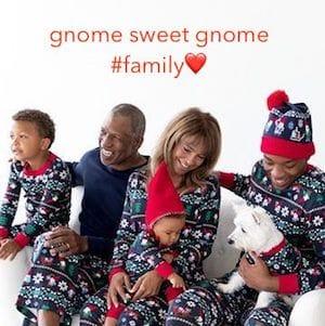 Family Love Gnome Sweet Gnome Matching Holiday Pajamas