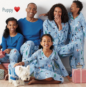 Family Matching Christmas Pups Pajamas, Puppy Love PJs