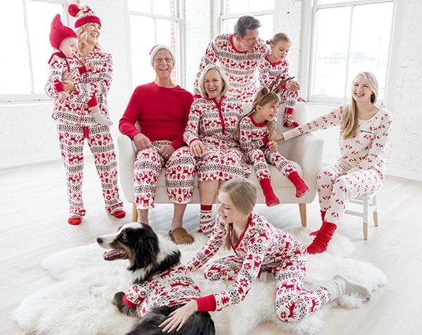 Family Matching Organic Cotton Holiday Deer Pajamas
