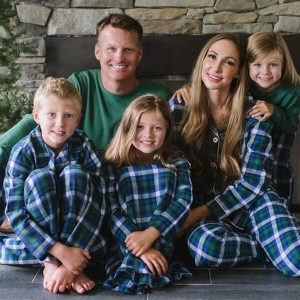 Family Matching Winter Green Plaid Holiday Pajamas