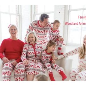 Family Matching Woodland Animal Christmas Pajamas