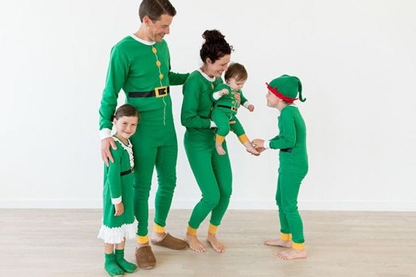 Family Matching Elf Christmas Pajamas