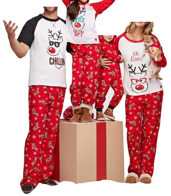 Family Matching Fun Deer Top Pajamas