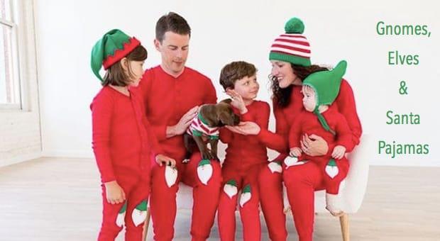 Gnome Elf And Santa Christmas Pajamas Family Pjs