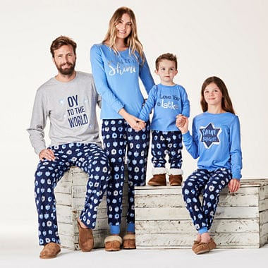 Hanukkah Blue Matching Oy Family Pajamas