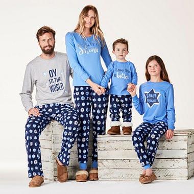Hanukkah Blue Matching Oy Family Pajamas