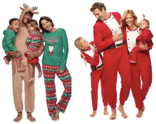 kohls matching family santa christmas pajamas