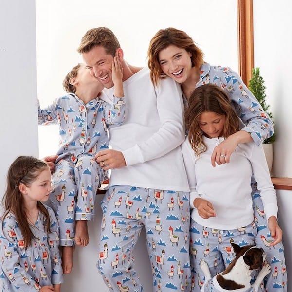 Family Matching Llama Pajamas