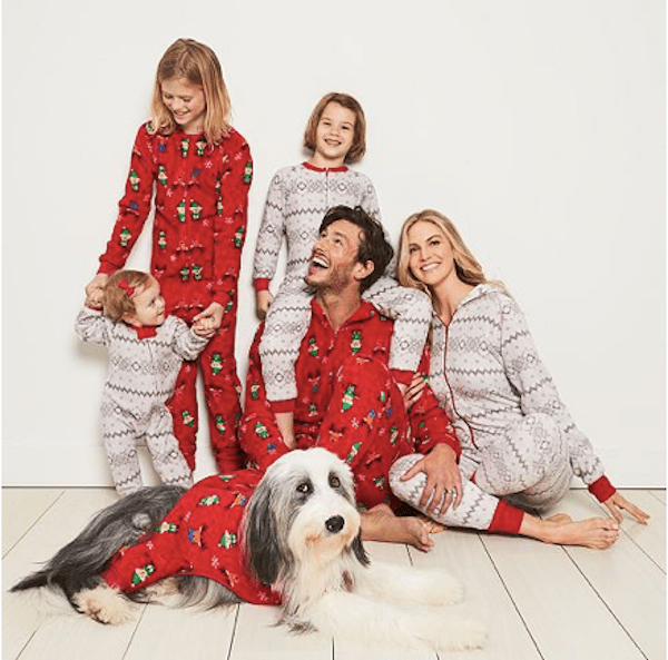 Matching Family Winter Fairisle and Elf Holiday Pajamas