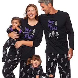 Matching Family Skeleton Halloween Pajamas