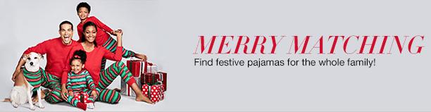 Merry Matching Family Matching Christmas Holiday Pajamas