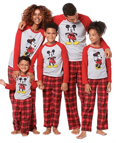 Mickey and Minnie Mouse Christmas Holiday Family Matching Pajamas