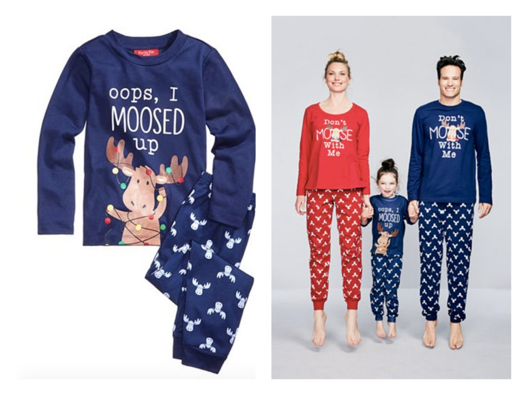 Moose Family Holiday Matching Pajamas