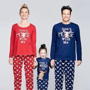 Moose Family Matching Pajamas