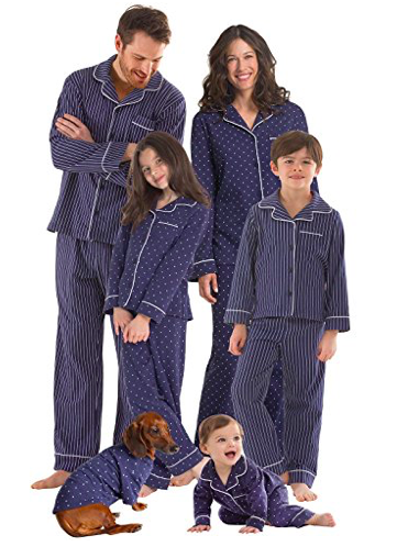 PajamaGram Dots and Stripes Matching Family Pajamas