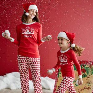 Personalized Snow Dot Pajamas