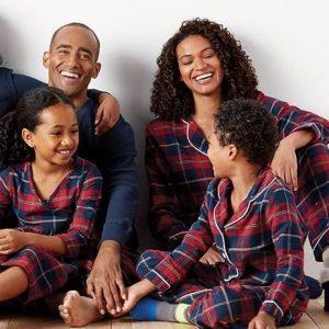 Plaid Matching Family Pajamas