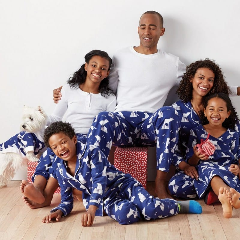 Polar Bear Matching Family Chanukah Pajamas