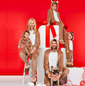 Reindeer Family Matching Holiday Pajamas