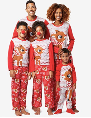 Rudolph the Red Nosed Reindeer Matching Christmas Pajamas