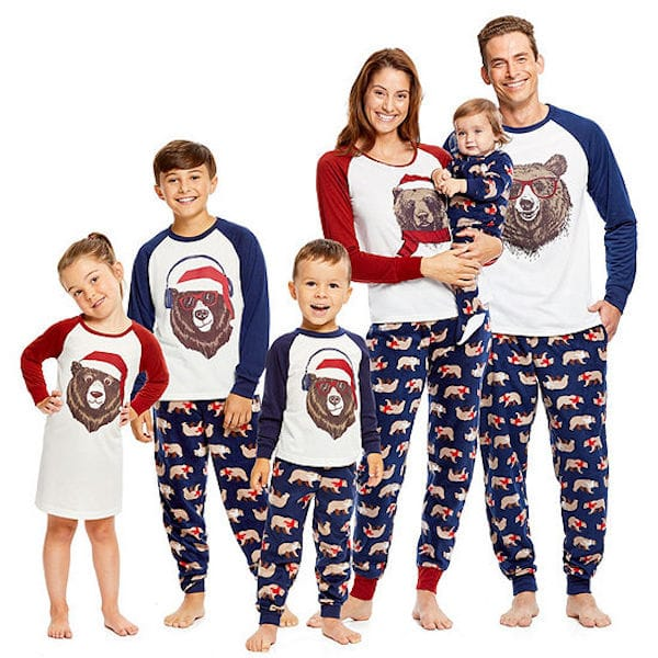 Family Matching Santa Bear Christmas PJs