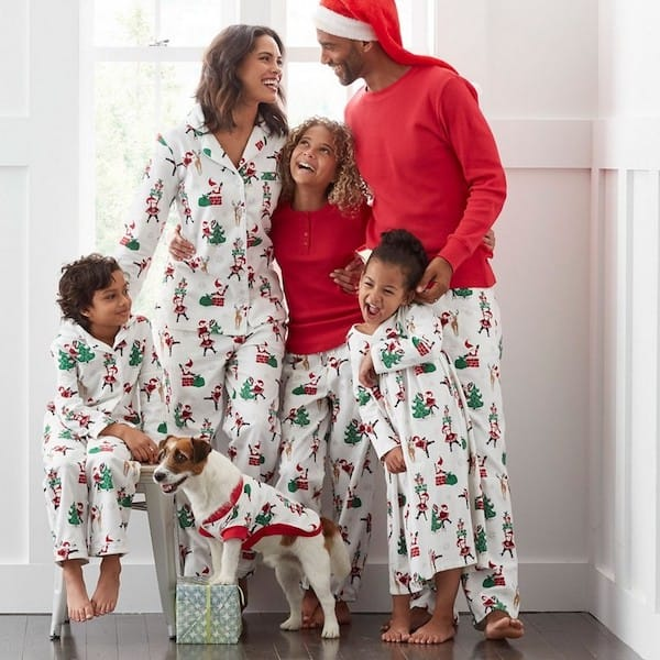 Family Matching Flannel Santa Pajamas