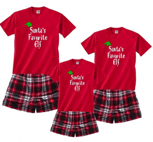Family Matching Santa's Favorite Elf Pajamas