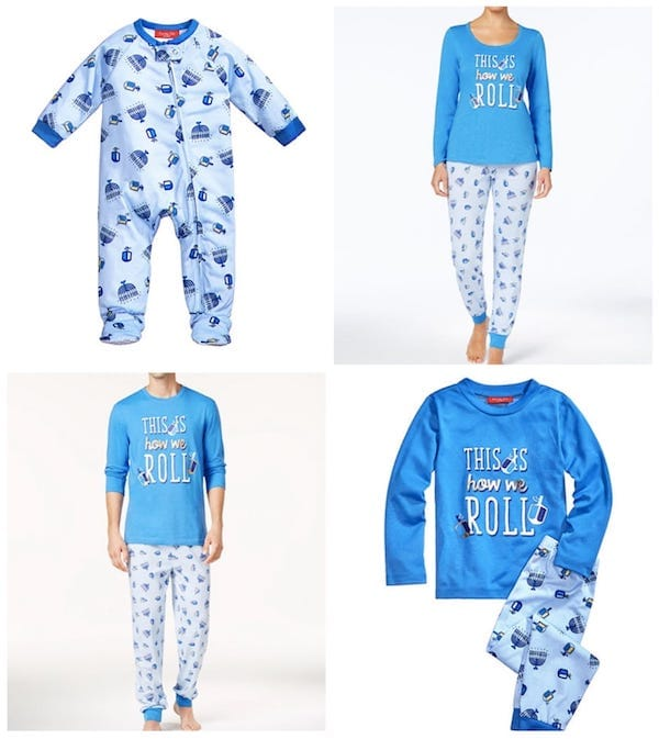 This Is How We Roll Hanukkah Holiday Family Matching Pajamas