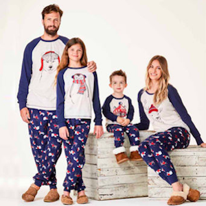 Woodland Creatures Family Matching Holiday Pajamas