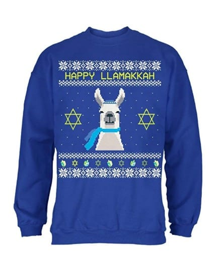 Happy llamakkah llama chanukah sweater