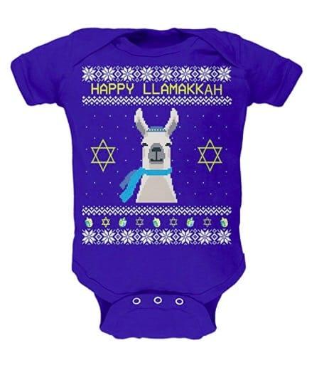 Happy llamakkah llama hanukkah baby onesie