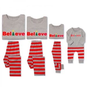 Believe Family Matching Christmas Pajamas