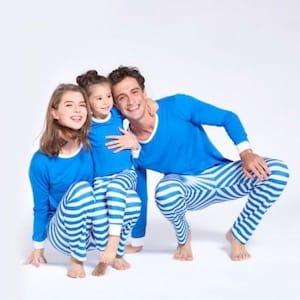 Blue Hanukkah Matching Family Pajamas PatPat