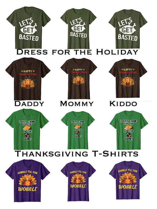 Daddy Mommy Me Thanksgiving T-shirts