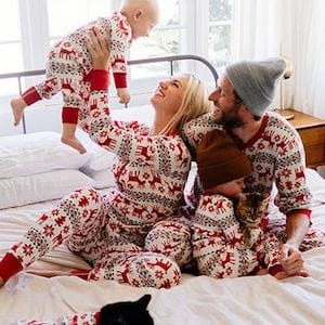 Deer Family Matching Holiday Christmas Pajamas