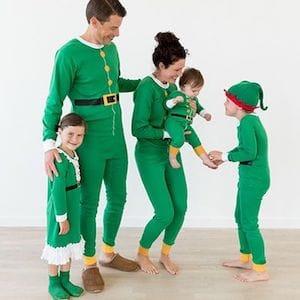 Elf Green Pajamas Family Matching