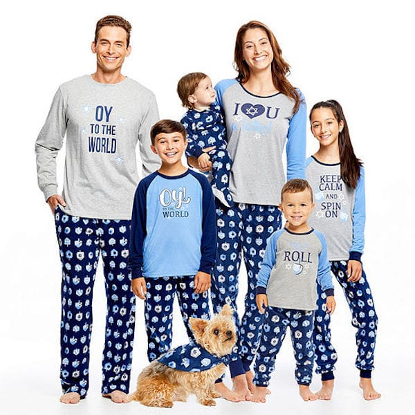 Family Matching Hanukkah Mixed Messages Pajamas