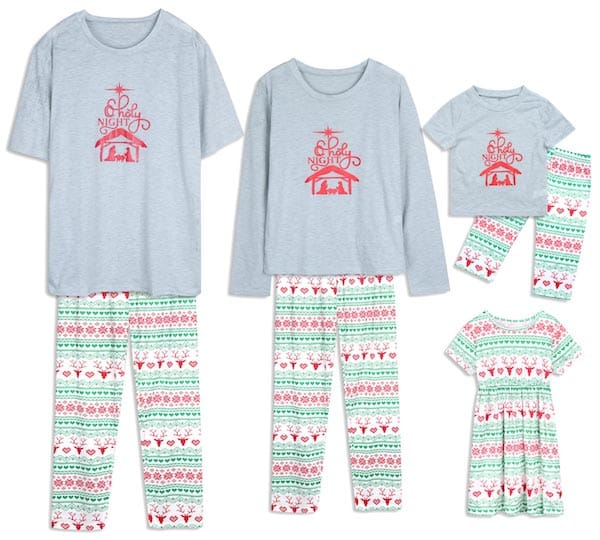 Holy Night Family Matching Summer Christmas PJs
