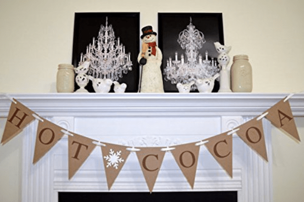 Hot Cocoa Banner for Decoration