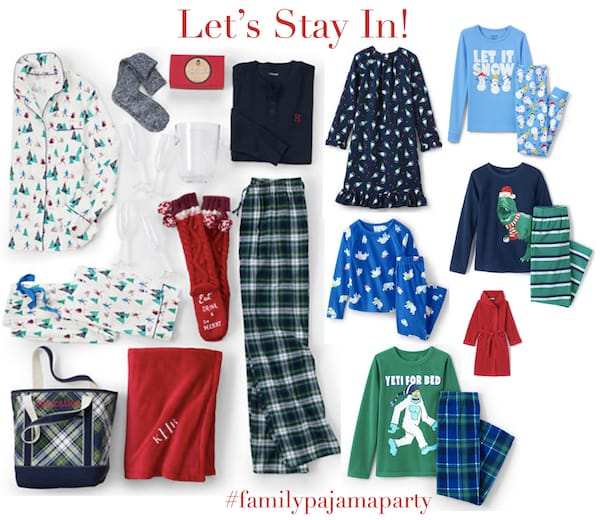 Lets Stay In and Stay Warm Family Pajama Party