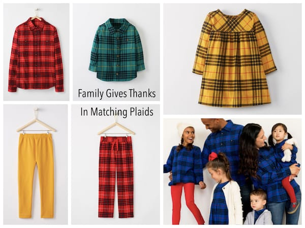 Matching Family Thanksgiving Plaid Outfits